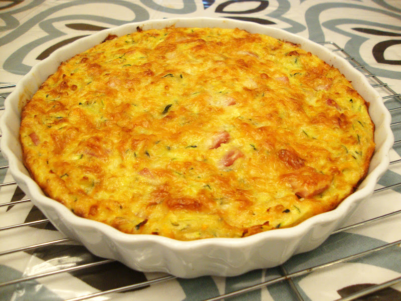 my back pages: crustless vegetable & ham quiche