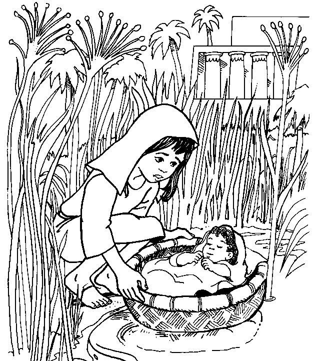 Bible stories sunday school coloring pages and preschool for Bible coloring pages moses