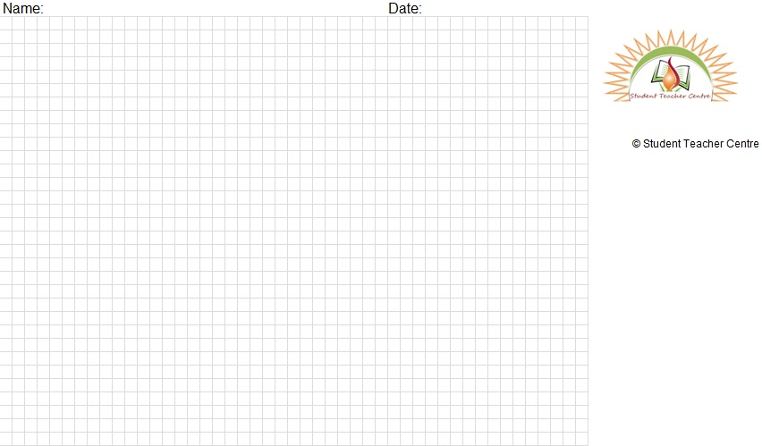 Graph Paper Printable Excel File Template For The Students And