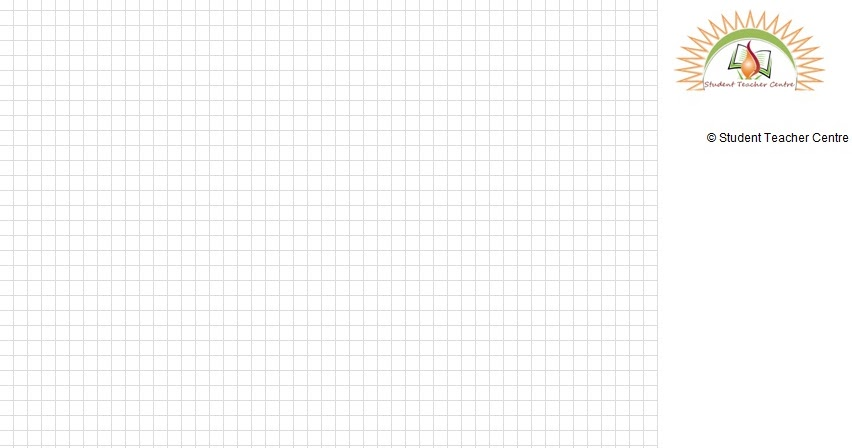Graph Paper printable Excel file template for the students ...