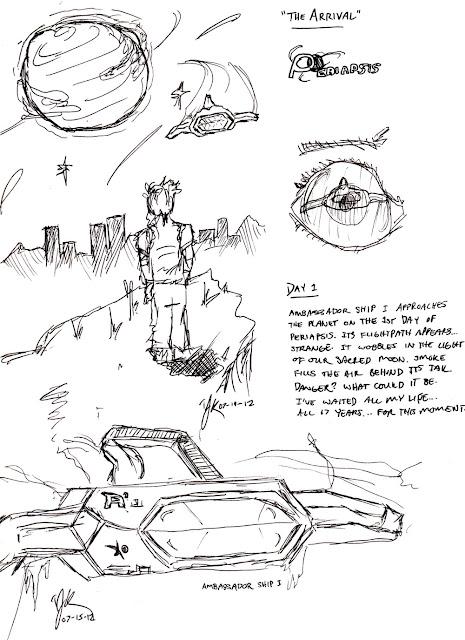 """Periapsis Concept Art: """"The Arrival"""""""