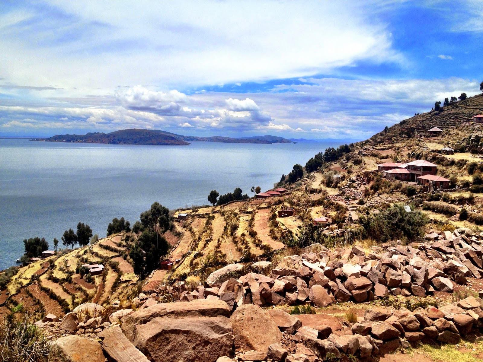 Farming terraces all around - Taquile Island