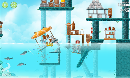 Angry Birds Rio Game for Windows Phone 8