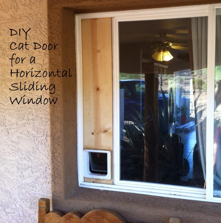 Down-to-Earth DIY: Cat Door (Horizontal Sliding Window)