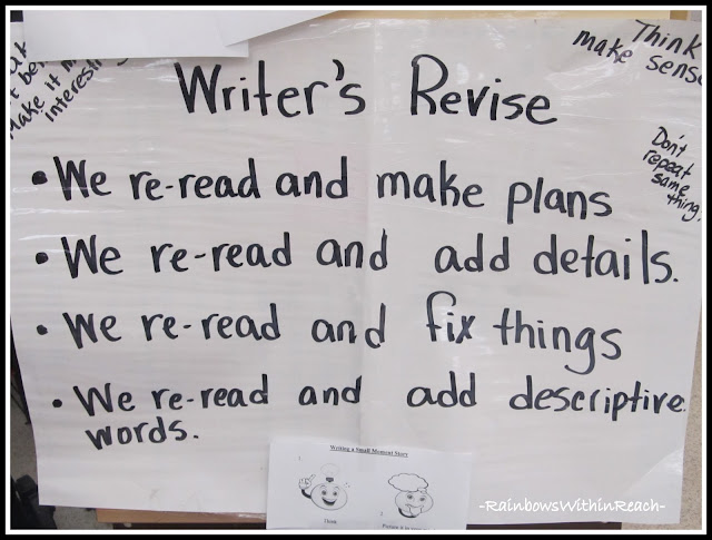 photo of: Writer's Revise Anchor Chart in Kindergarten
