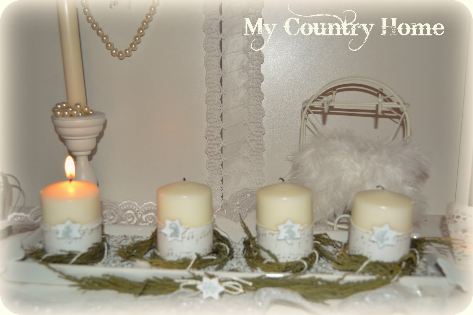 My country home candele dell 39 avvento for Candele ikea