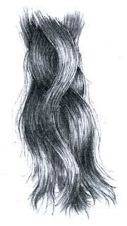 drawing of hair