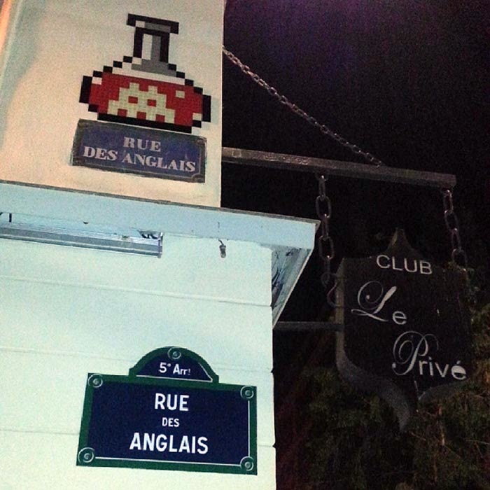 French Street Artist Invader just returned from his winter holidays in Anzere, Switzerland and started another round of invasion on the streets of Paris last night. 2