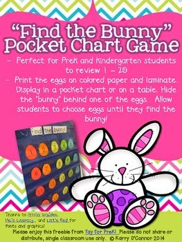 Preschool ponderings friday freebies for Call the easter bunny phone number