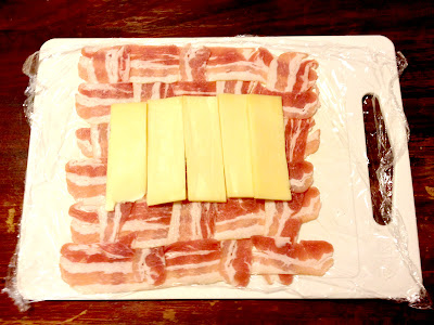 bacon weave cheese