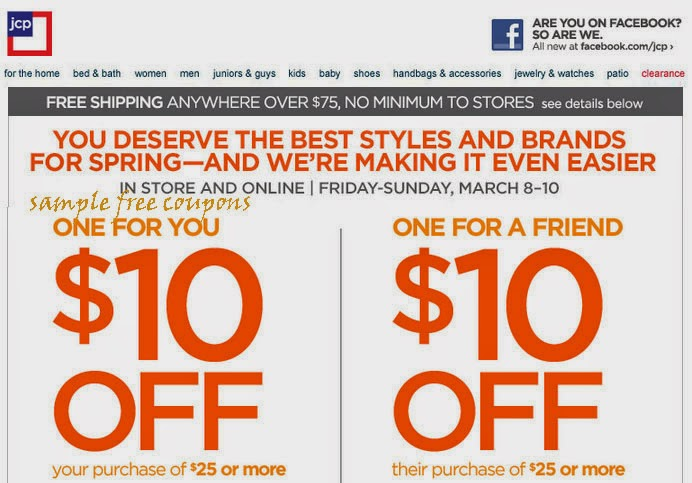 Jcpenney coupons september 2014