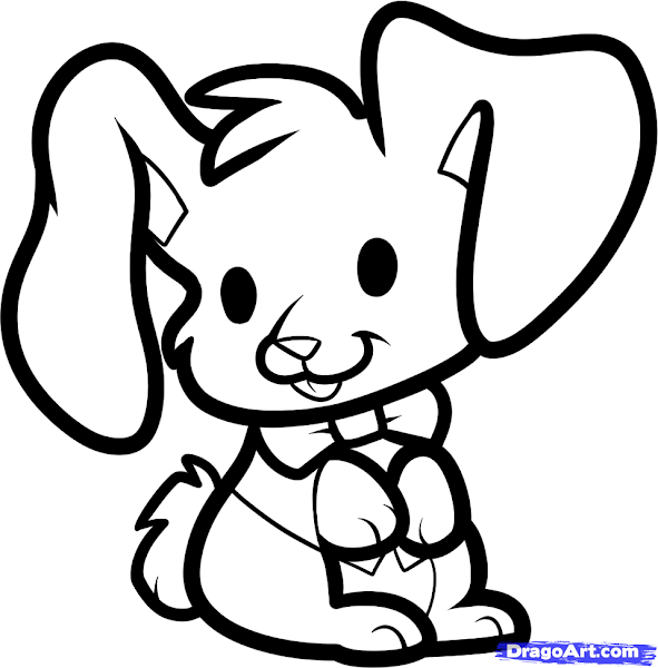 Easter Bunny Drawings