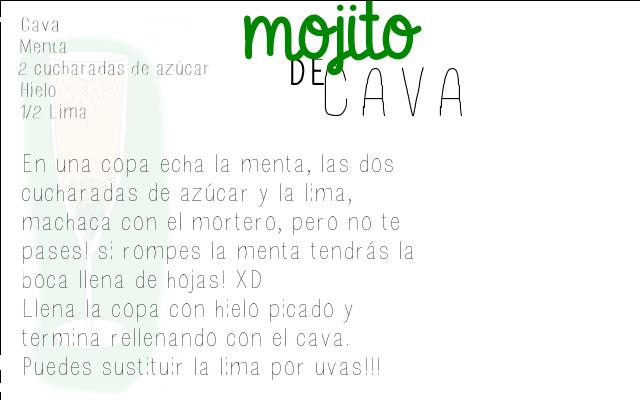 RECETA MOJITO DE CAVA