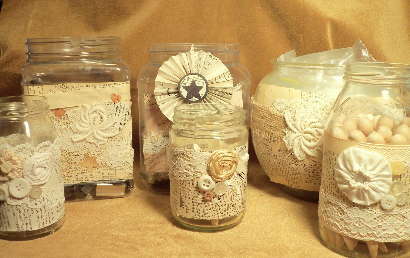 make the best of things pretty craft room jars