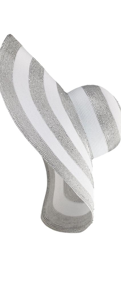 Eric Javits Stripe Dip Brim Hat