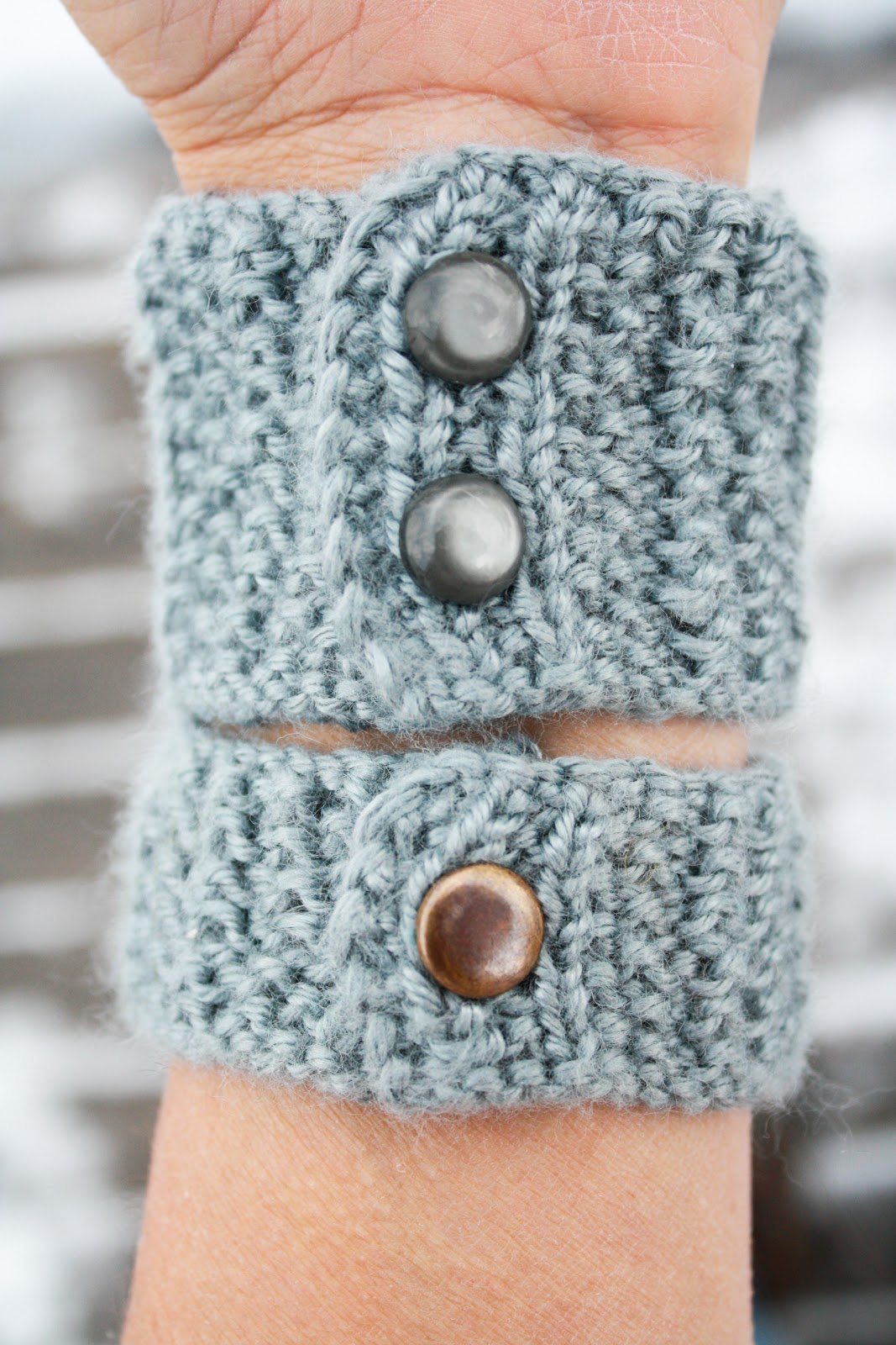 Knit Bracelet Pattern : Simple Things Notebook: A Pattern for You: Knit Bracelet or Cuff