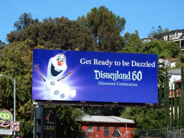 Glittering Disneyland 60 Diamond Celebration Olaf billboard