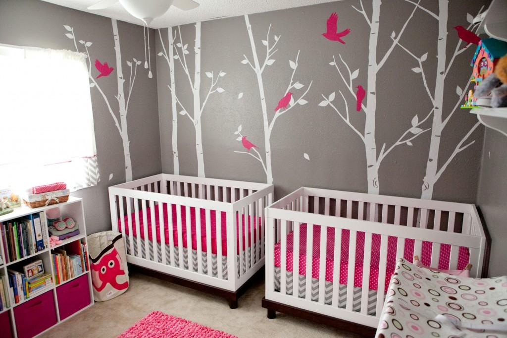 Photo déco chambre bébé jumeaux - Bébé et décoration - Chambre bébé ...
