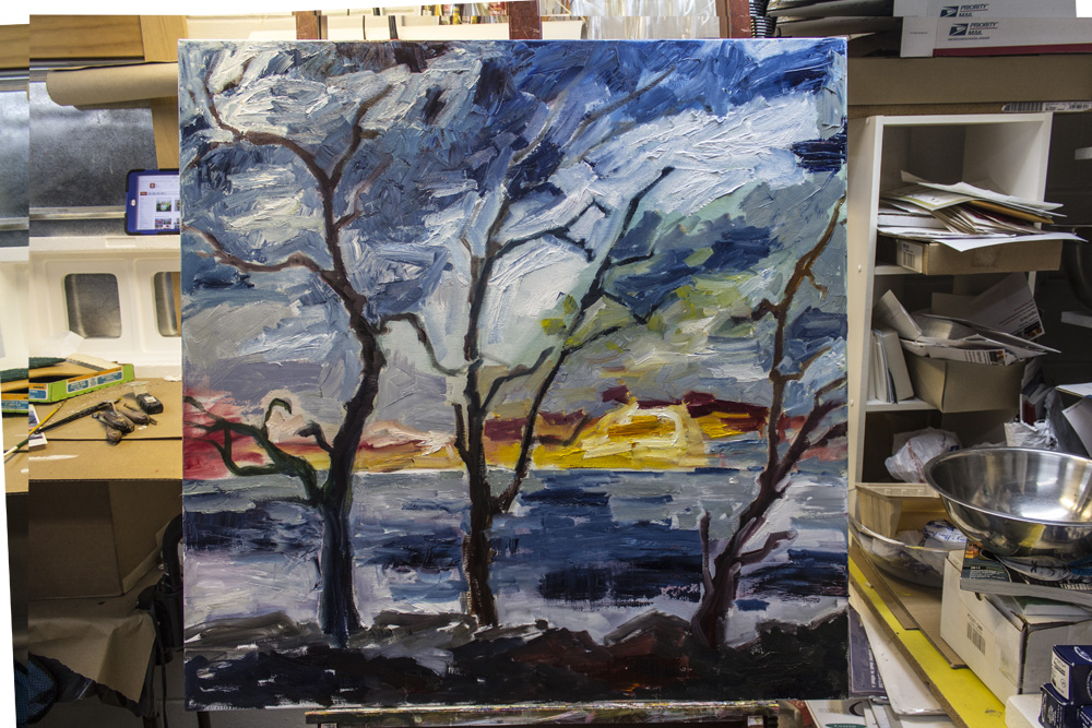 Jekyll Island Sunrise Work in Progress