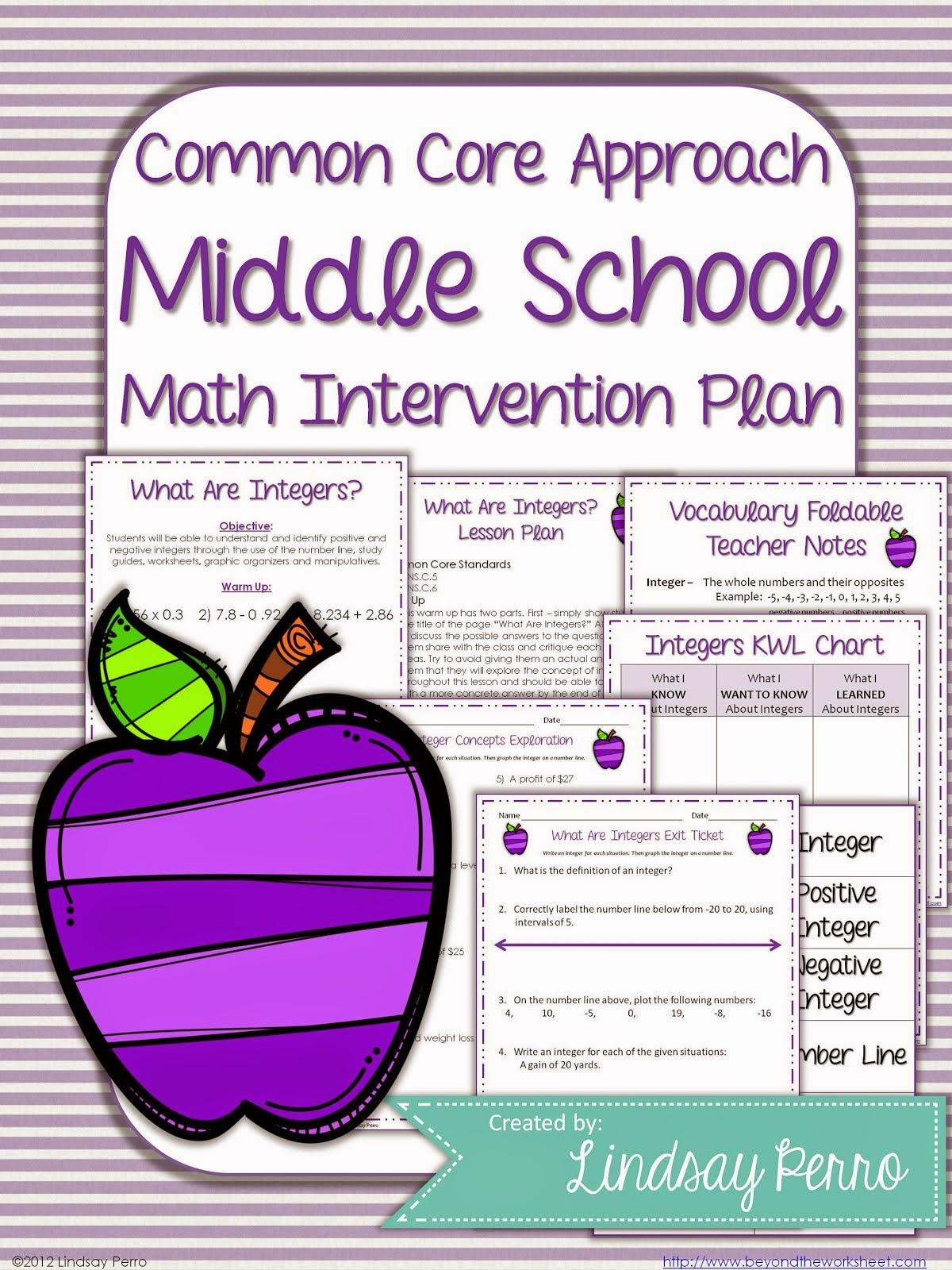 Math Intervention Plan