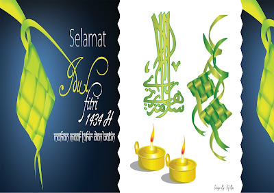Desain Kartu Ucapan Idul Fitri 1434 H Wakapolres Teluk Bintuni Hal depan
