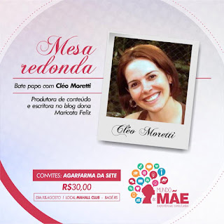 Mundo Mãe, Eventos, Cléo Moretti, Blog Dona Maricota Feliz, Mesa Redonda, Palestras, Bagé, Família,