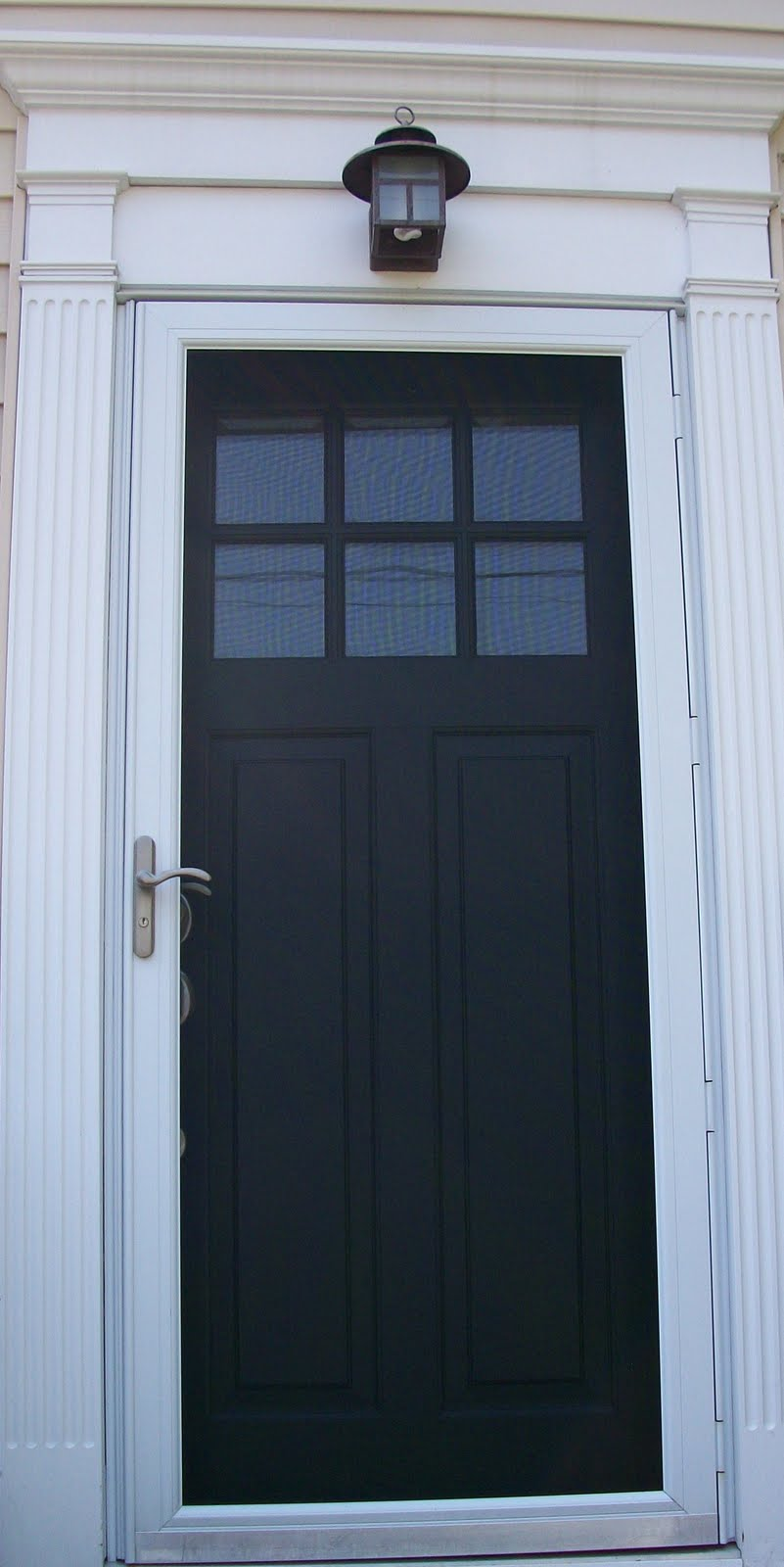 Sixty fifth avenue the painted front door part two for Entry door with storm door