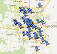 Denver Metro Colorado Brewery Map