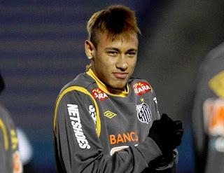 Neymar with Santos