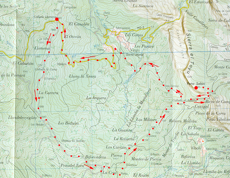 monchu x montaña: PEÑA SALÓN