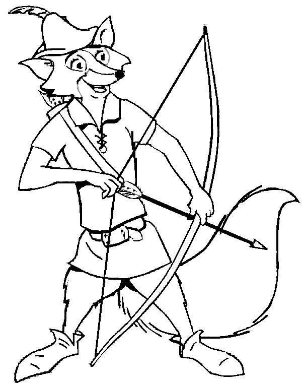 Página para colorir para crianças: Desenhos Colorir Robin Hood