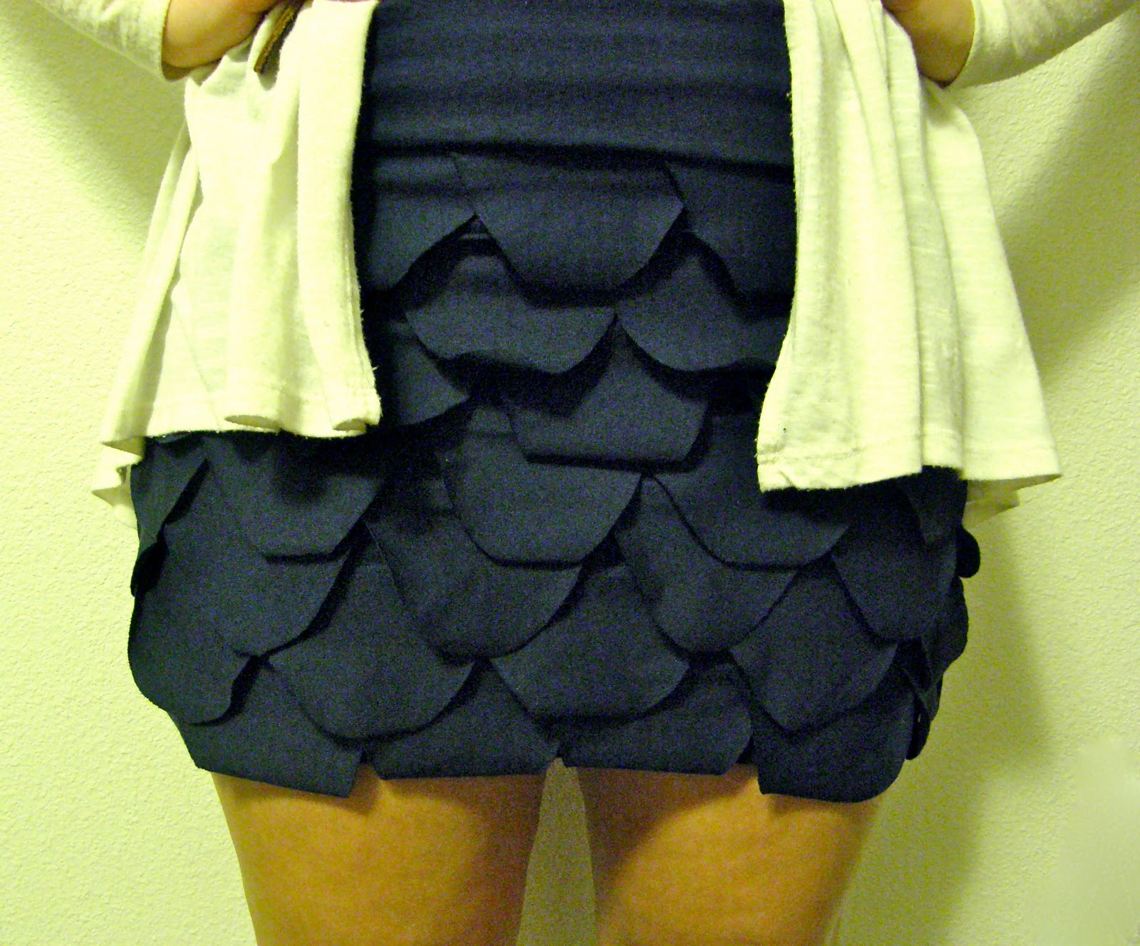 can can dancer fish scales skirt made from old t shirts