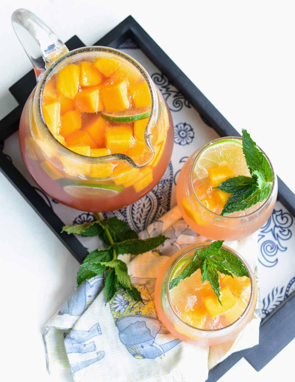 Recipe for Mango Sangria With White Zinfandel and Lychee Liqueur
