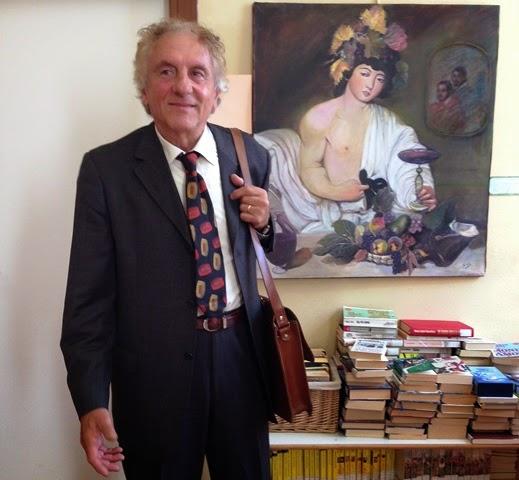 Italo Gafà ...durante la mostra antologica