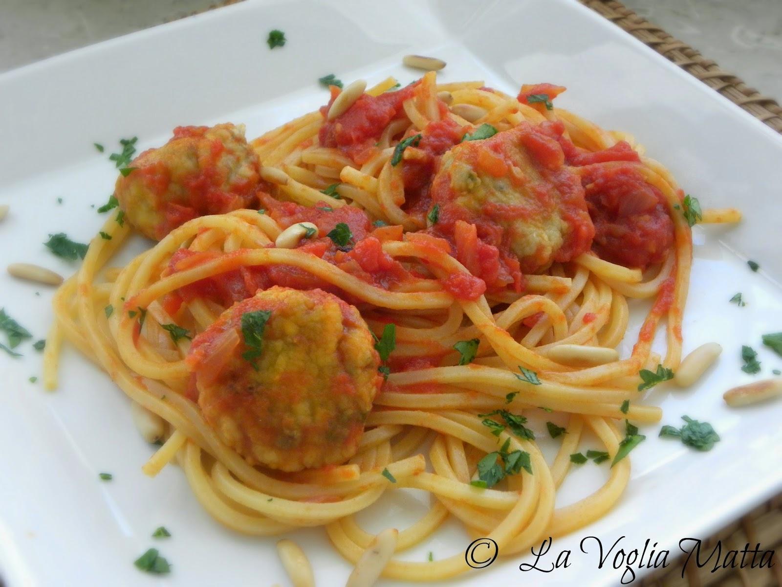 spaghetti quadrati con polpettine di sardoni barcolani