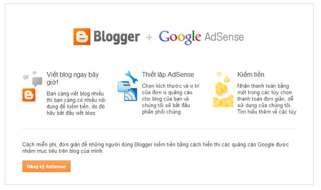 Bật Chức Năng Google AdSence Trong Blogspot