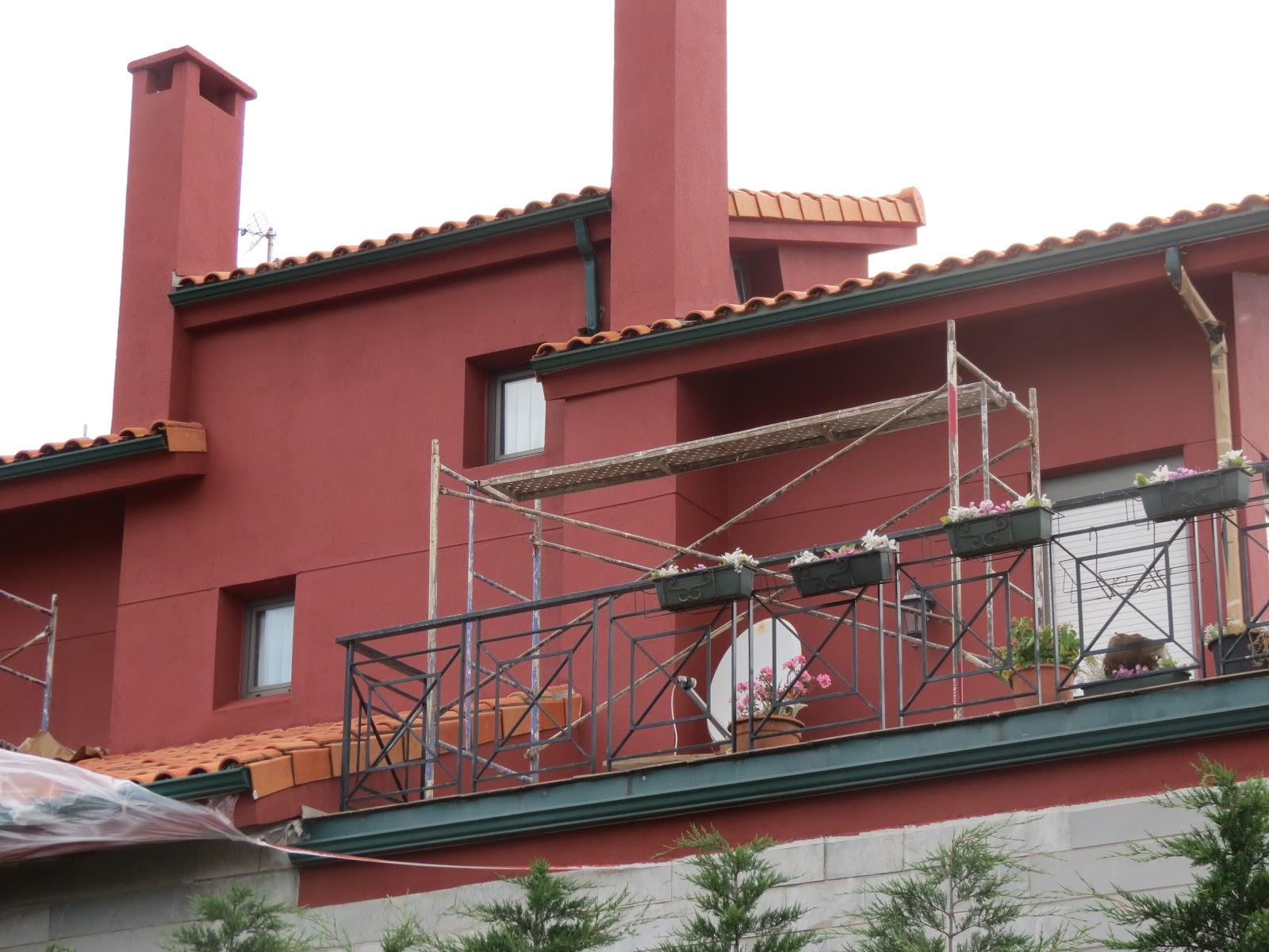 Pintura y decoraci n pintura en exterior fachada en chalet - Fotos de fachadas de chalets ...