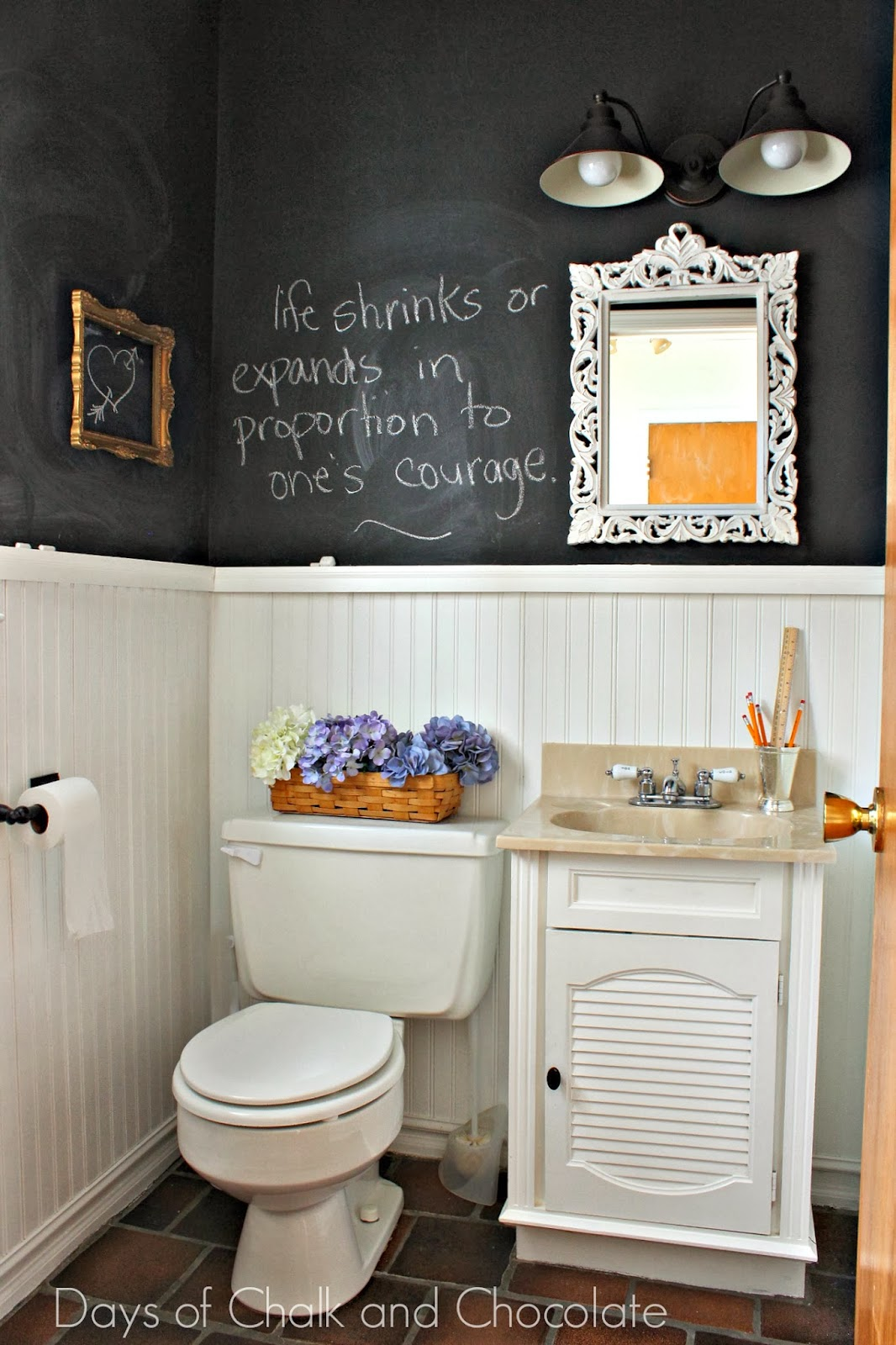 Days of Chalk and Chocolate Powder Room Reveal