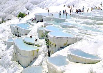 Tempat wisata terkenal di turki Pamukkale