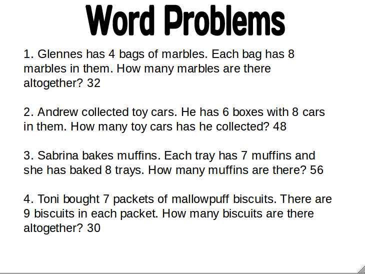 Solve this word problem for me
