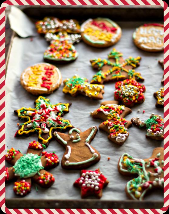 il natale è la festa dei bambini: la piccola fabbrica dei biscotti.