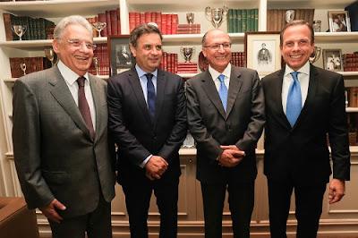 FHC,Aecio Neves, Geraldo Alckmin, João Doria do PSDB