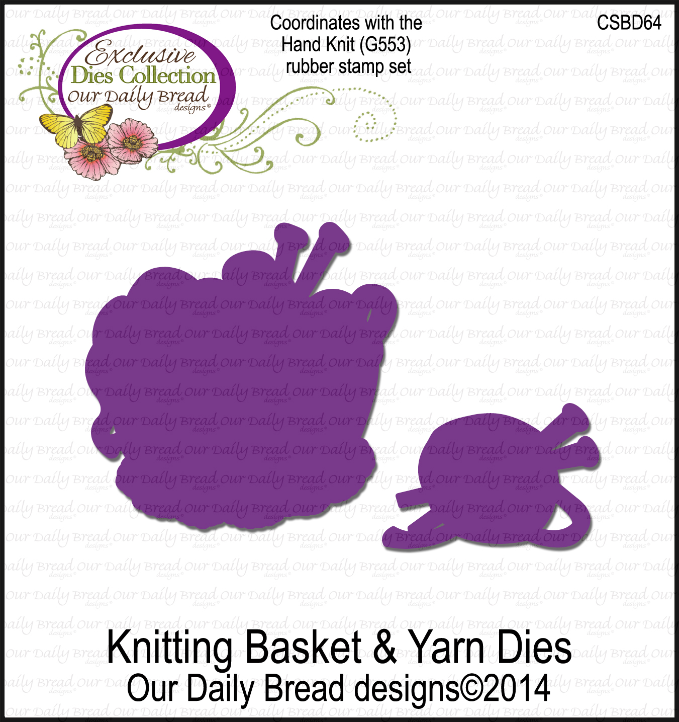 Our Daily Bread Designs Custom Knitting Basket and Yarn Dies