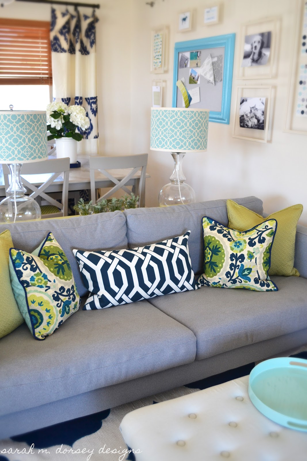 Sarah m dorsey designs pillow shams for the living room Decorative pillows living room