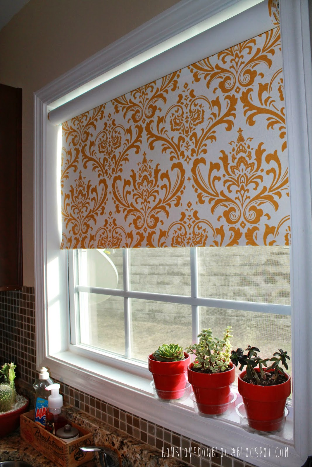 Fabric Roller Shades : Hous love dog ikea hack fabric covered tupplur blinds
