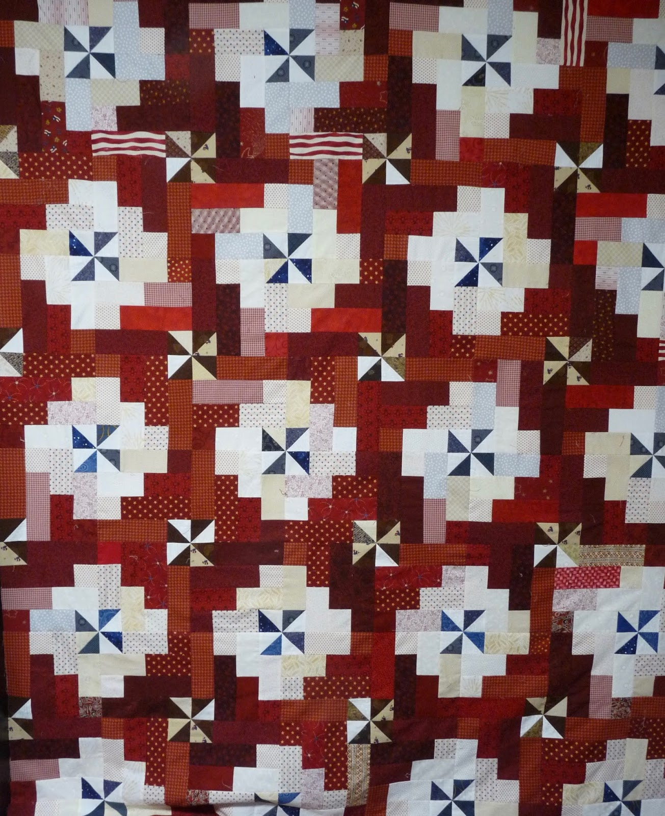 Country Log Cabin Quilt Of Valor Top