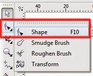 Shape Tool pada CorelDraw