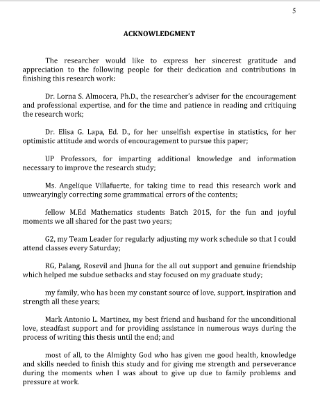 acknowledgment thesis god Acknowledgements i would like to express my sacrifices without which the study would not have been possible, may god keep their soul in peace.