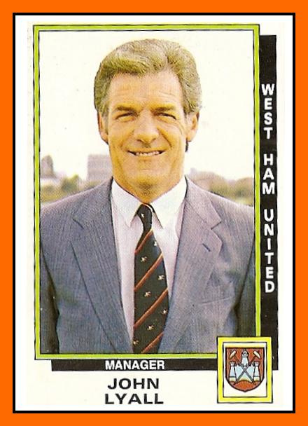 Old School Panini Uk Football Team West Ham 1986