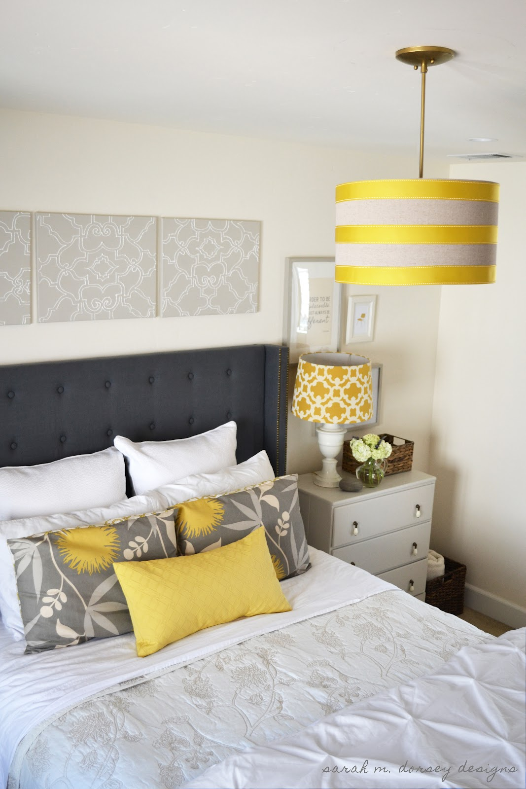 Sarah M Dorsey Designs Art Above The Headboard Finished
